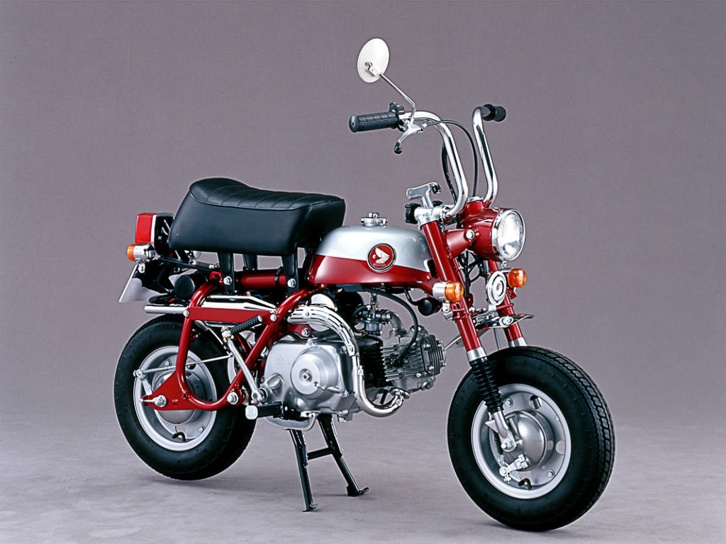 Mit Candy-Lackierung und einklappbarem Lenker: Honda Monkey Z50Z von 1970
