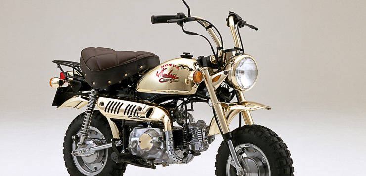 Limitiertes Sondermodell in Gold Honda Monkey 1984
