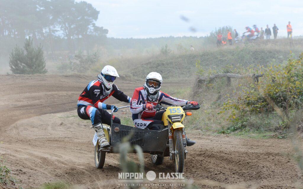 Max von Bredow und Andreas Mischel auf dem Wasp 620 Sidecar
