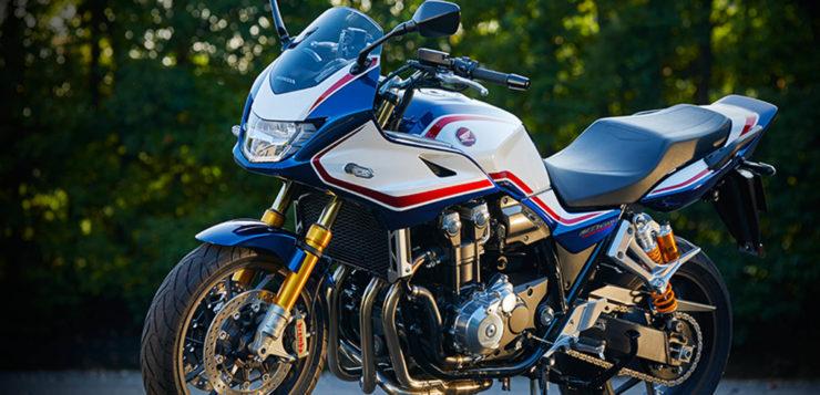 Die hochwertigen Fahrwerkskomponenten bleiben der Honda CB 1300 Super Bol d'Or SP vorbehalten
