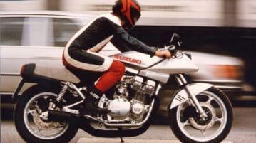 Die Suzuki Katana auf Testfahrt