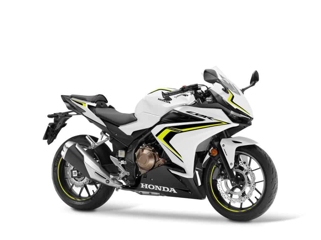 Das Pearl Metalloid White steht der Honda CBR500R auch sehr gut