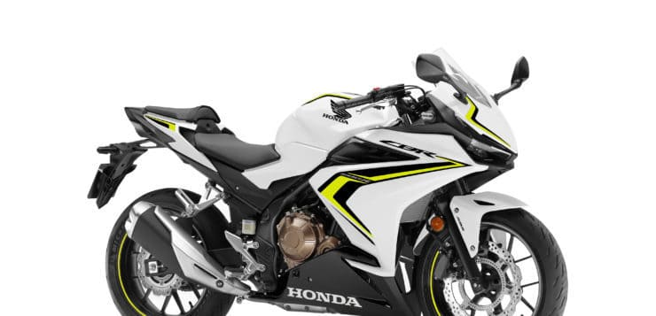 Honda CBR500R in Pearl Metalloid White