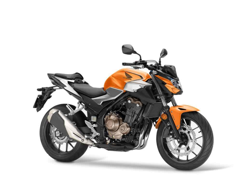 Die Honda CB 500F in Candy Energy Orange
