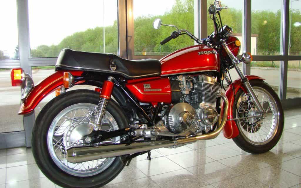 Die Honda CB750A Hondamatic ist in Europa fast nicht zu finden