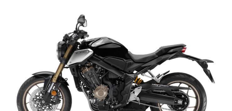 Zur Ausstattung der 2019er Honda CB 650R gehört u.a. eine 41 mm Upside-Down-Gabeln von Showa