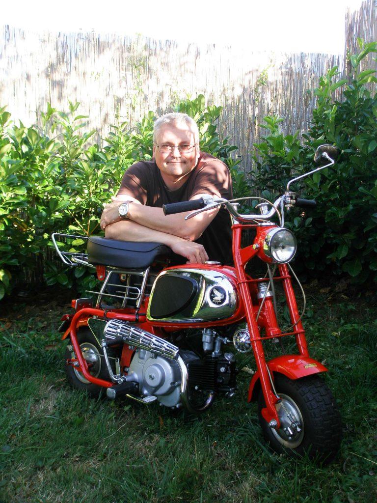 Gilles Schumacher und seine Honda CZ100