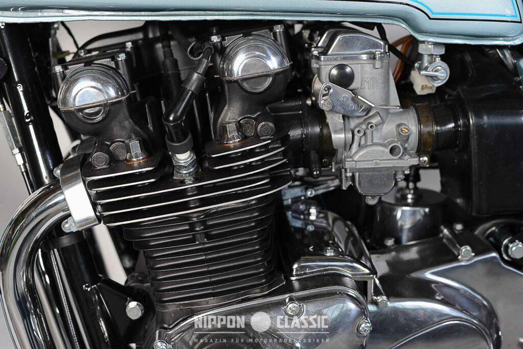 Der Z1R DOHC-Motor bekam größere Vergaserdurchlässe