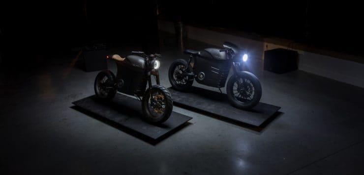 Neben der Scrambler hat Tarform auch einen Café-Racer-Ableger mit E-Antrieb aufgebaut
