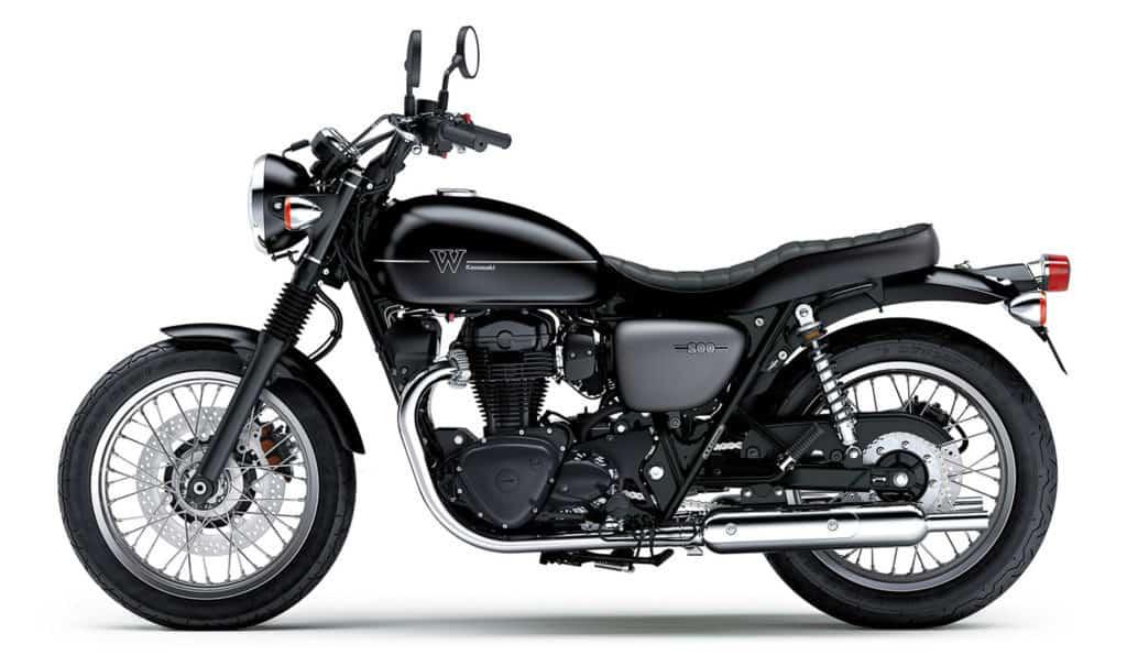 Die neue Kawasaki W800 Street mit Doppelsitzbank