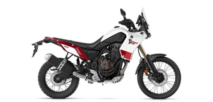 Competition White ist eine von drei Farben für die Yamaha Ténéré 700