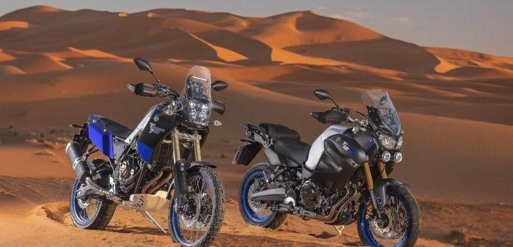Hier stehen die brandneue Yamaha XTZ700 und XTZ1200 zusammen