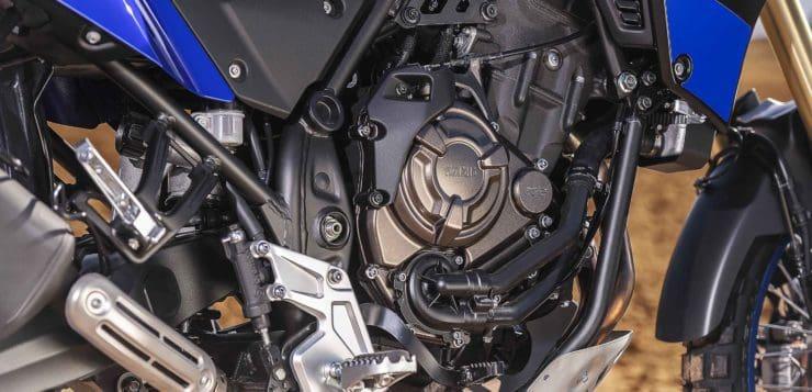 Das Yamaha Ténéré 700 Zweizylinder-Triebwerk leistet knapp 74 PS