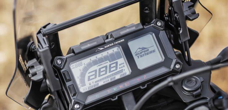 Das multifunktionale LCD-Display der Tenere kann um weitere Geräte ergänzt werden