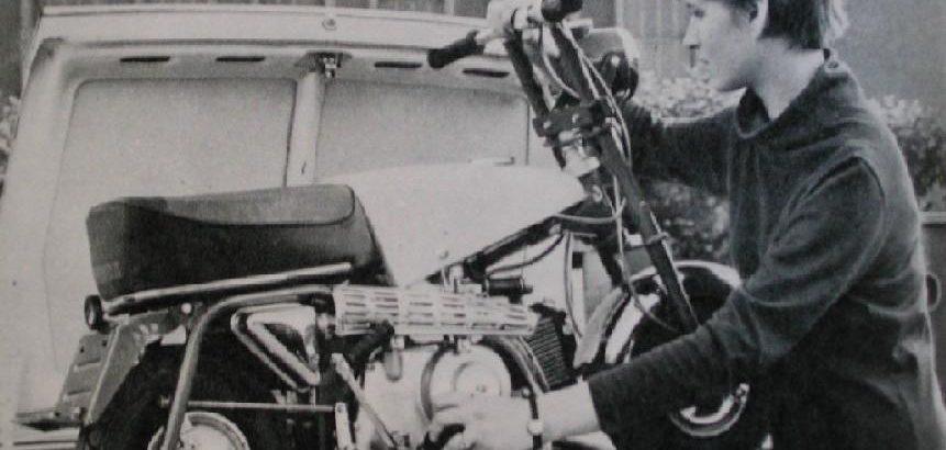 Die Honda Monkey konnte leicht im Kofferraum mitgneommen werden