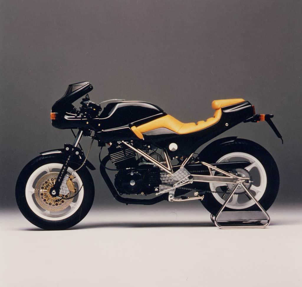 Die von Target Design gestaltete Einzylinder-Egli war auf der IFMA 1983 zu sehen