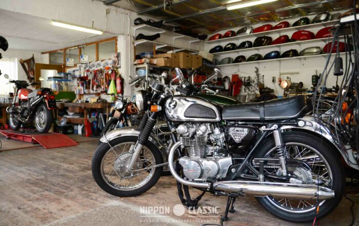 Perfekte Schrauber-Garage und Traum vieler Motorradfahrer