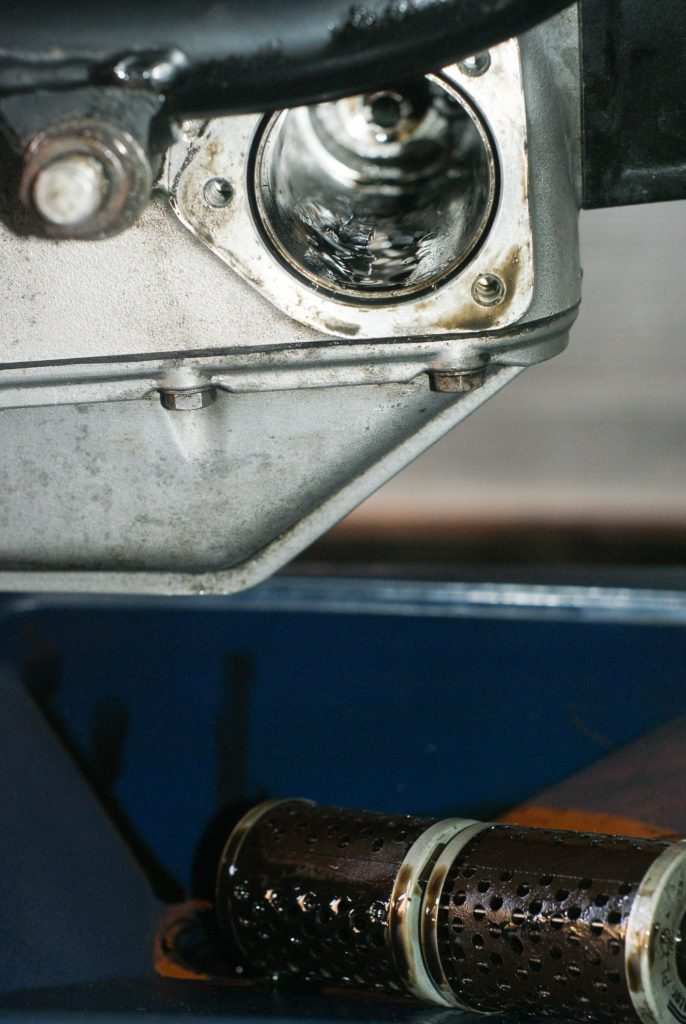 Motorradmotor mit Ölfilter
