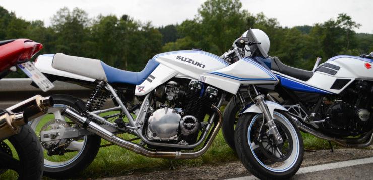 Heutzutage wird die Suzuki GSX 1100 S Katana gerne auch etwas getunt