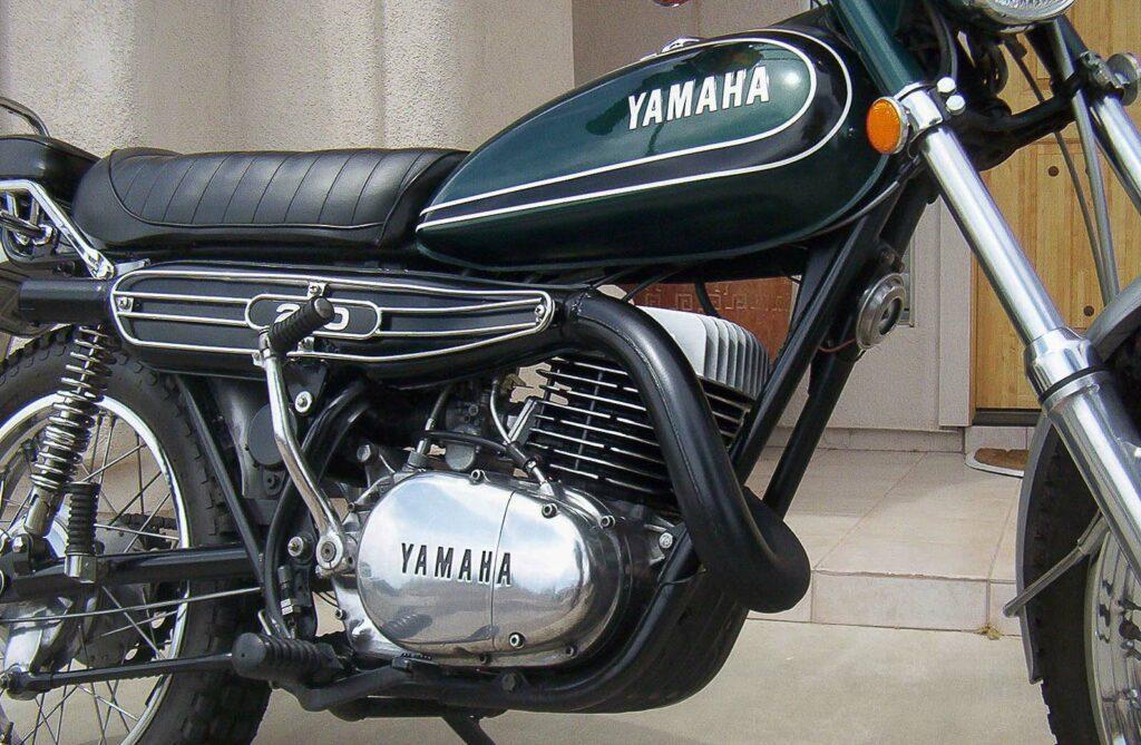 """Die Yamaha DT3 von 1973 gab es ausschließlich in """"Competition Green"""""""