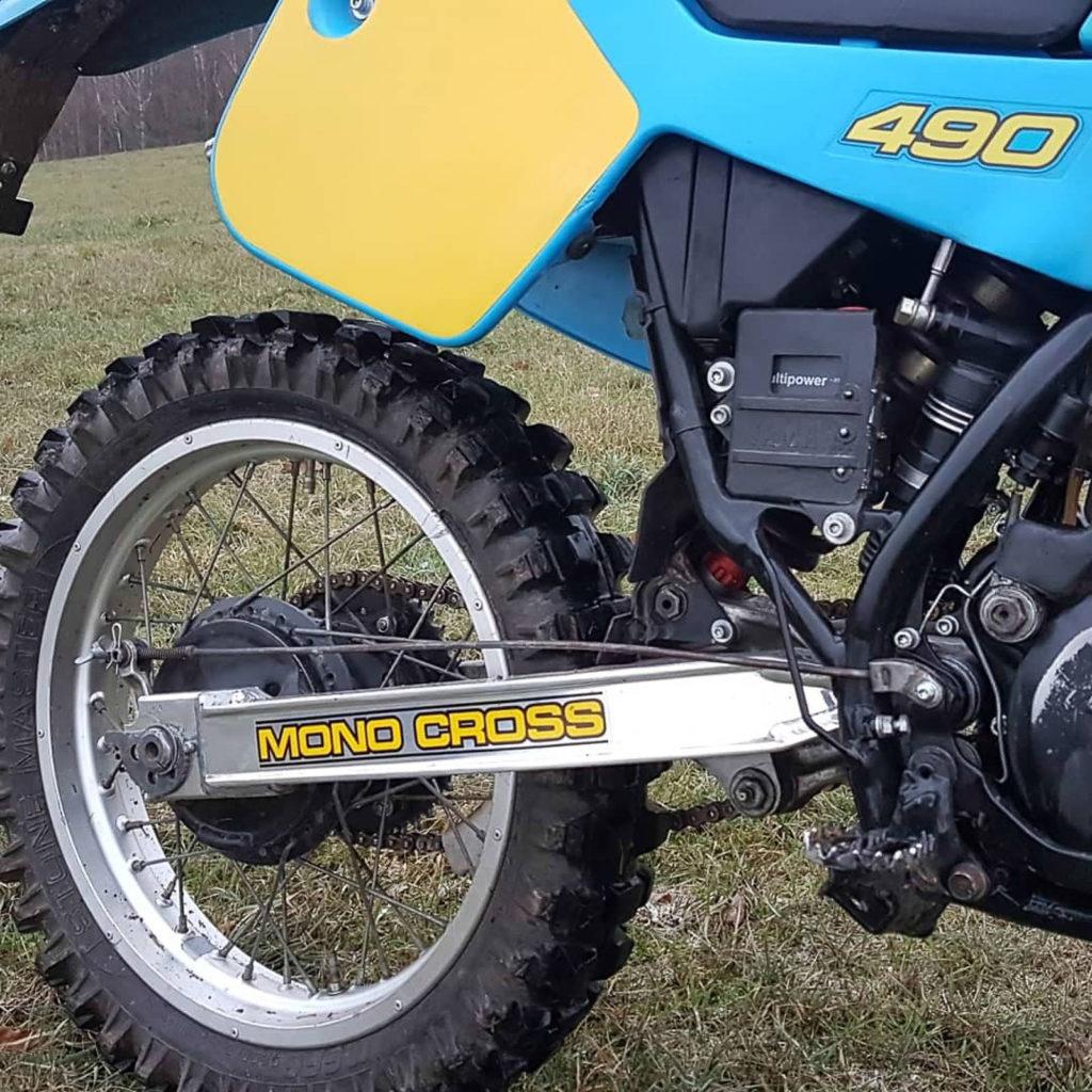 Die Yamaha IT-Baureihe hatte als erstes eines Monocross-Federung hinten