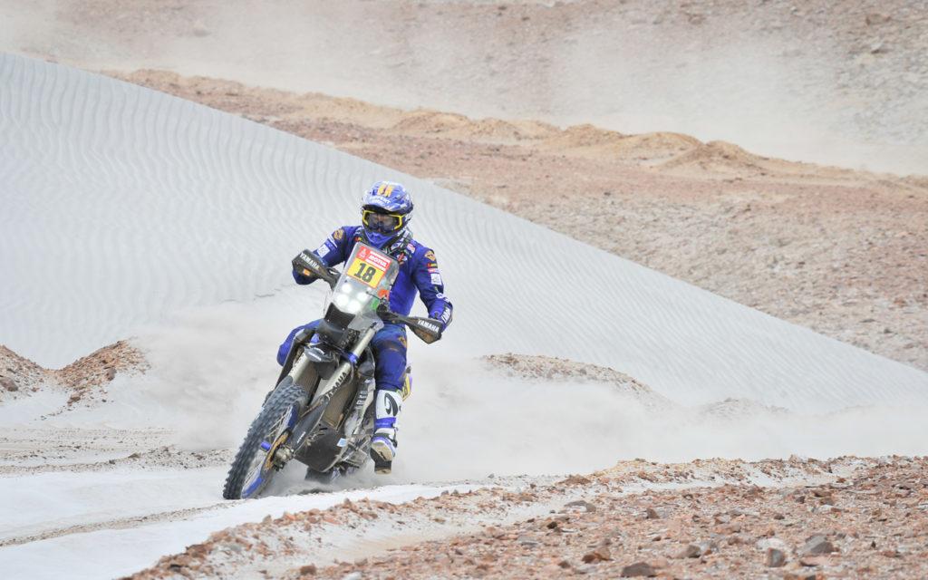 Xavier de Soultrait (Yamaha) auf der 4. Etappe von Arequipa nach Moquegua