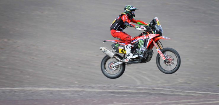 Kevin Benavides (Honda Monster Energy Team) kam auf Platz 3