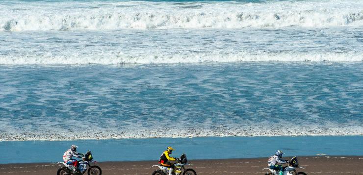 Teil zwei der 5.Etappe wurde am Strand gestartet