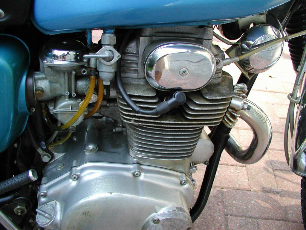 Der Motor thront auch in der Honda CB 350 K