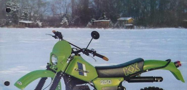 Die Firma ERK aus Kassel baute nur 50 Exemplare der Kawasaki KX 250