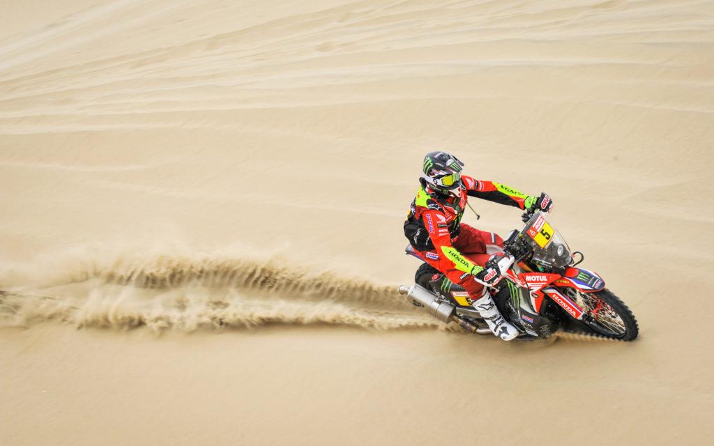 Honda-Fahrer Joan Barreda übernahm die vorläufige Gesamtführung bei der Rallye Dakar 2019