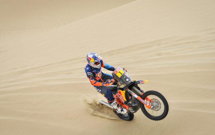 Matthias Walkner (KTM) gewinnte die zweite Tagesetappe der Dakar 2019