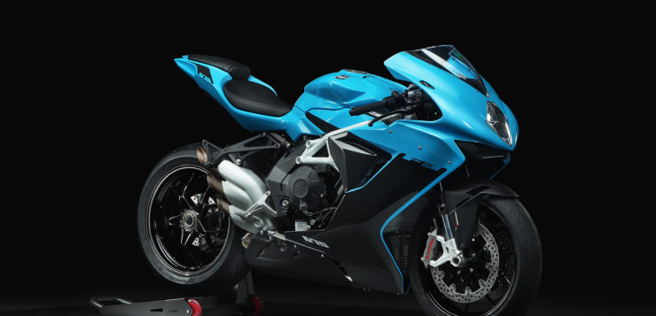 "MV Agusta F3 675 in ""Intense Sky Blue/Night Grey"""