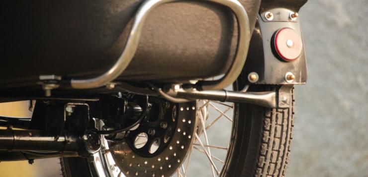 Die Beiwagenbremse ist eine Honda-/Hercules-Kombination