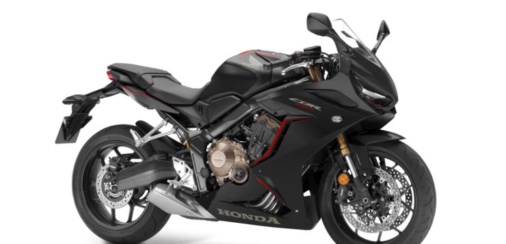 Honda CBR650R in schwarz