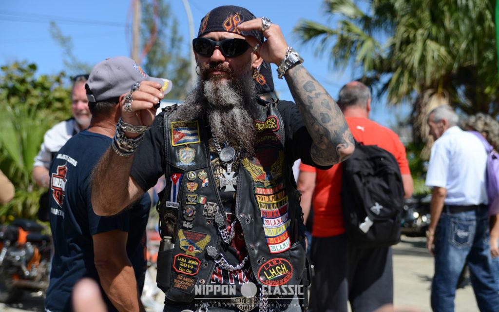 Die Harlistas Cubanos tragen ihre Kutten mit Stolz