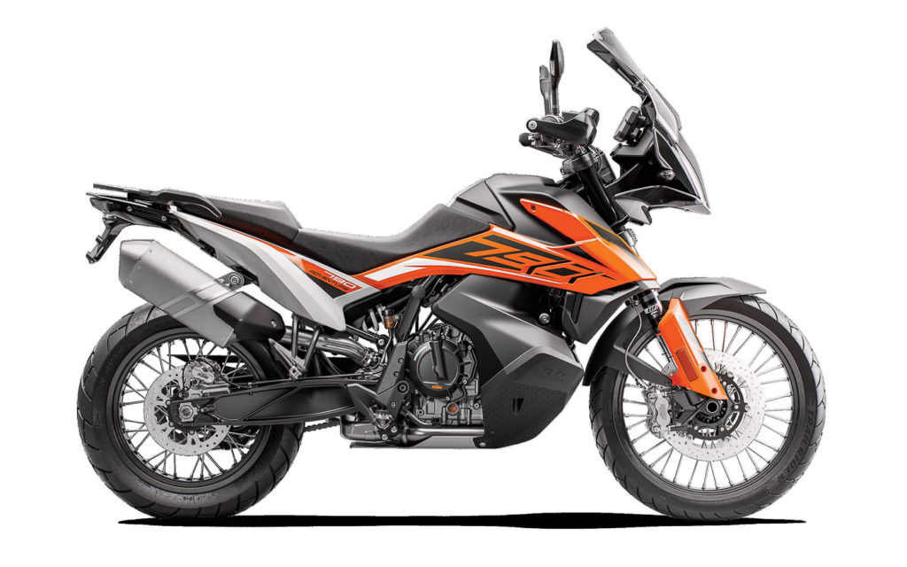 Farbvariante Orange der KTM 790 Adventure