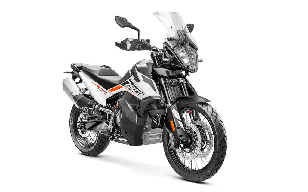 Farbvariante Weiß/Schwarz der KTM 790 Adventure