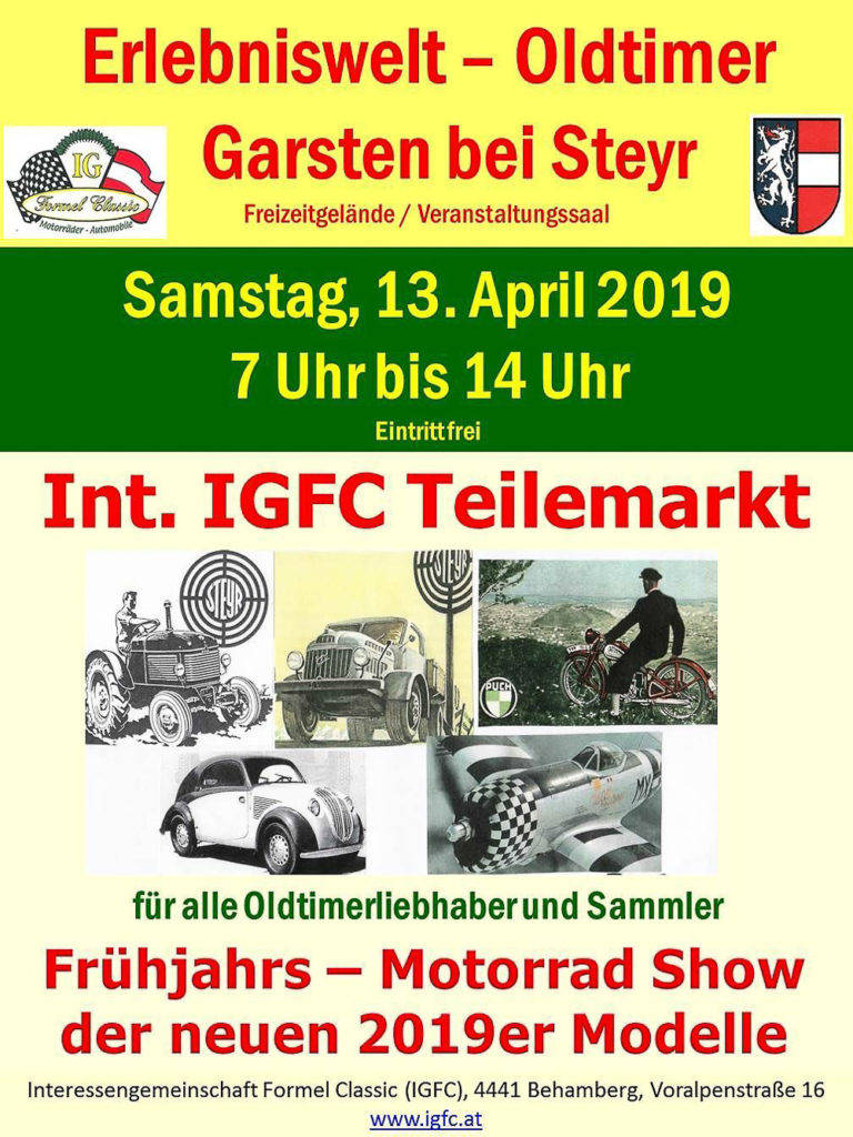 Erlebniswelt Oldtimer Garsten/Steyr in Österreich