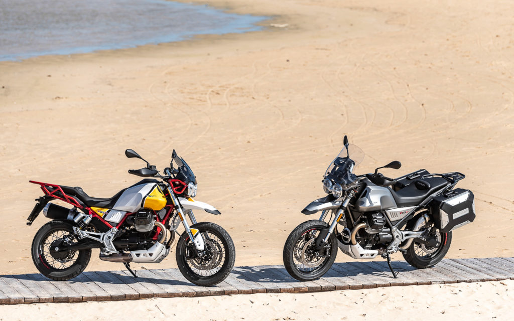 Die Moto Guzzi V85 TT gibt es in zwei Varianten