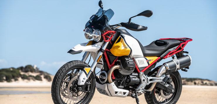 Die V85TT Gelb Sahara kostet 300 Euro mehr
