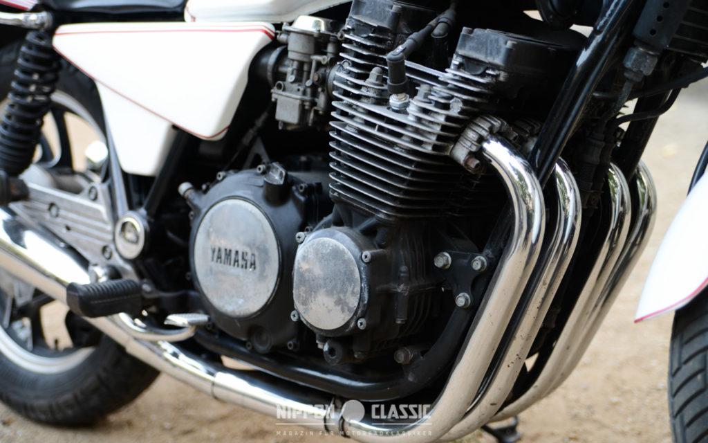 Der XJ 650 Motor wurde schmal und kompakt konstruiert