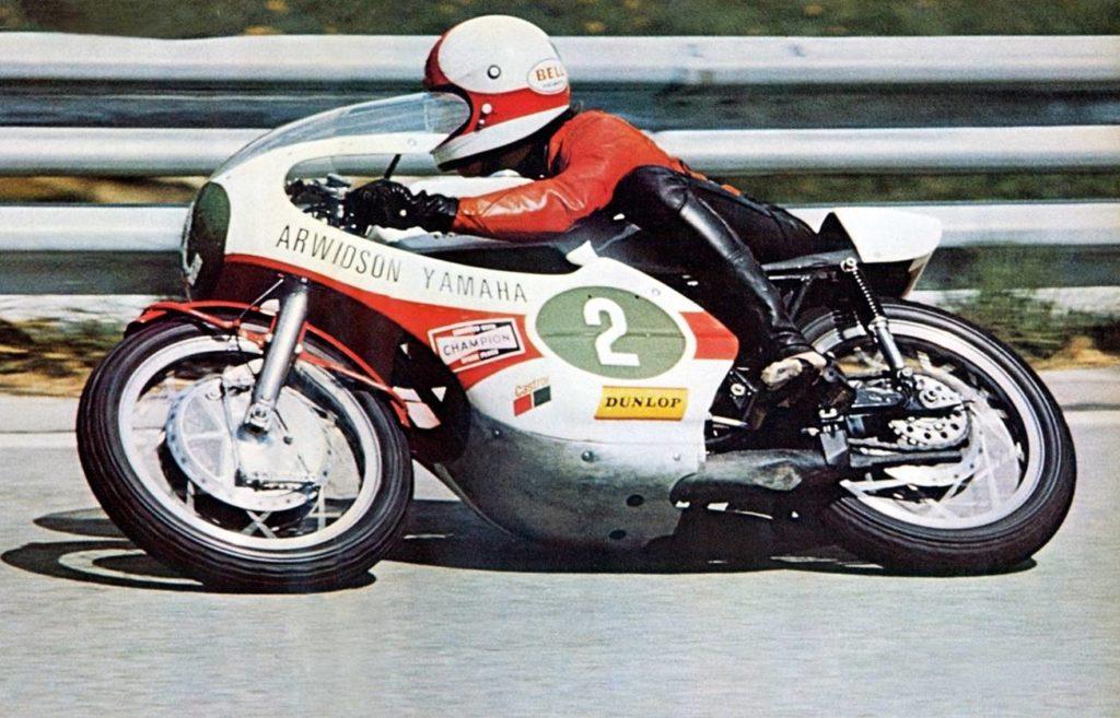 Jarno Saarinen beim GP in Belgien 1972 auf seiner 250 ccm Yamaha