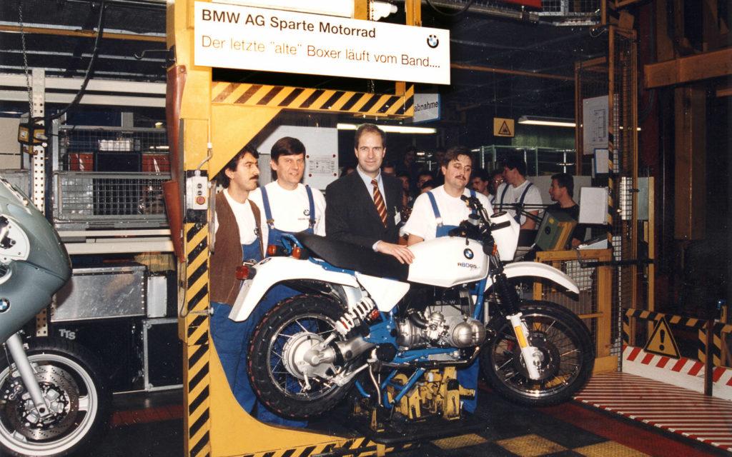 """Der letzte """"alte"""" Boxer läuft 1996 vom Band - hier die BMW R 80 GS"""