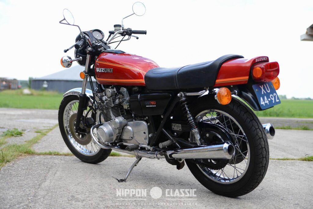 Diese Suzuki GS 750 stammt aus dem Jahr 1977