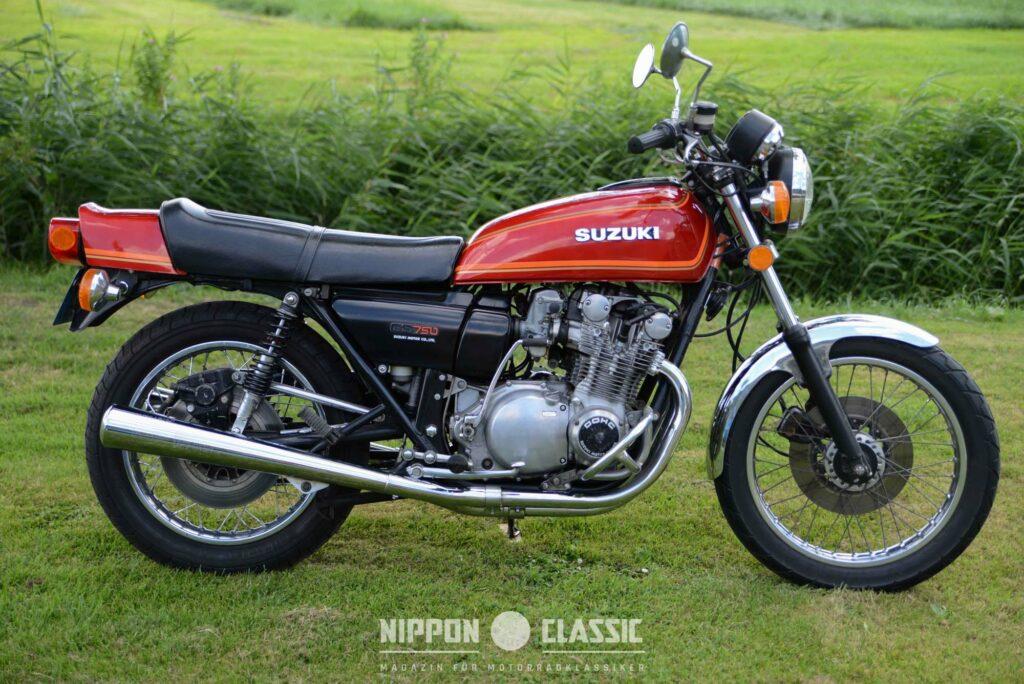 Wie bei der Honda CB 750F - schwarze Seitendeckel an der GS 750