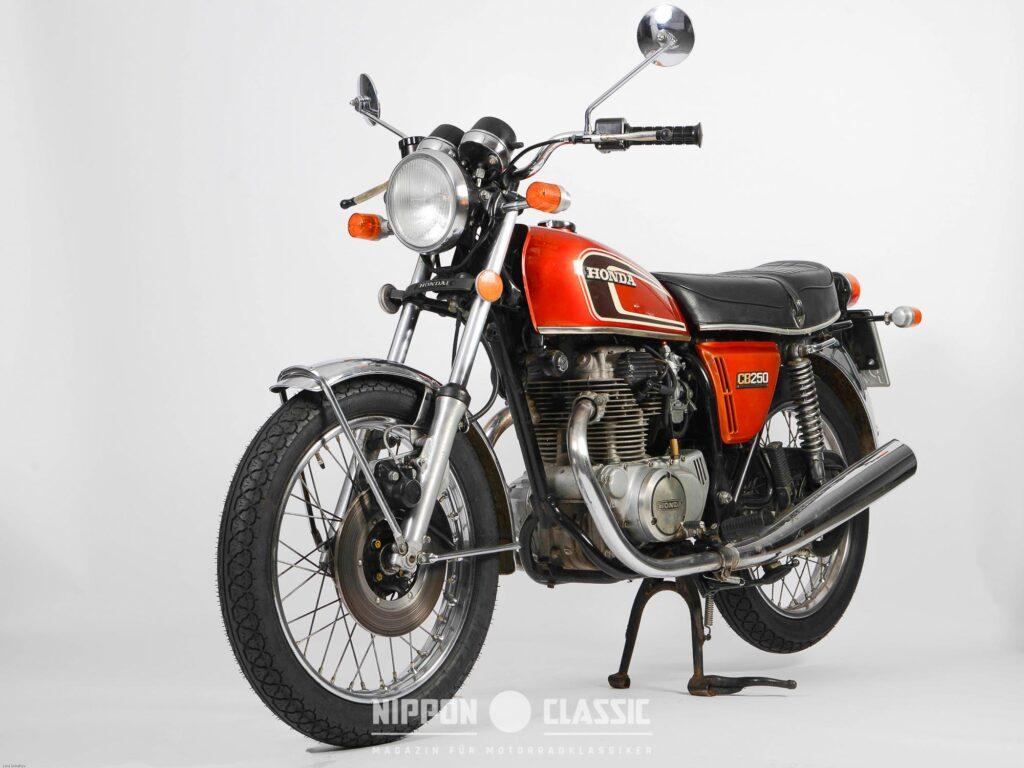 Honda CB 250 G von 1976 mit Scheibenbremse