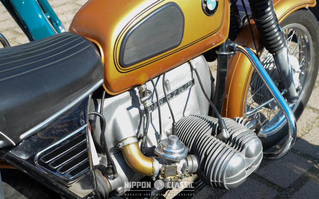 In Sachen Leistung hatte die BMW R75/5 das Nachsehen