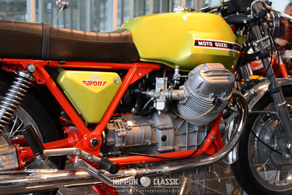 Moto Guzzi V7 Sport verfügte über ein Fünfganggetriebe