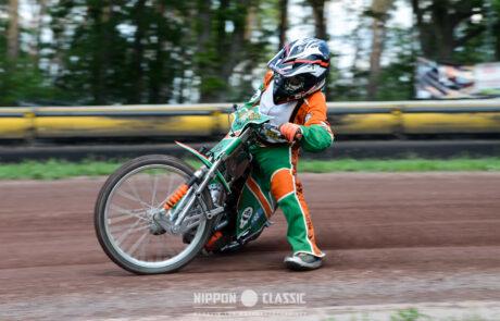 Der zehnjährige Paul ist ein Talent beim Speedway Team Wolfslake